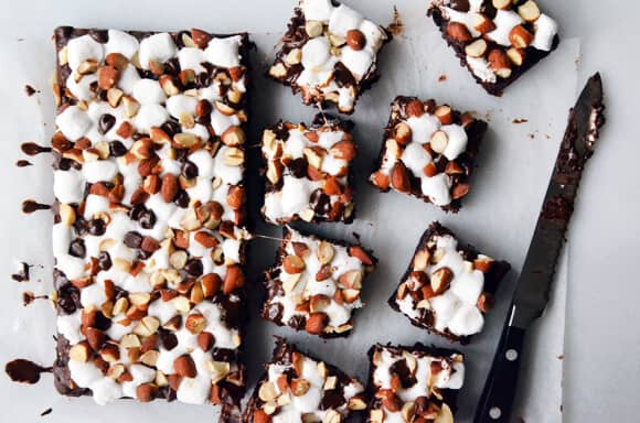 Rocky road brownies sliced final