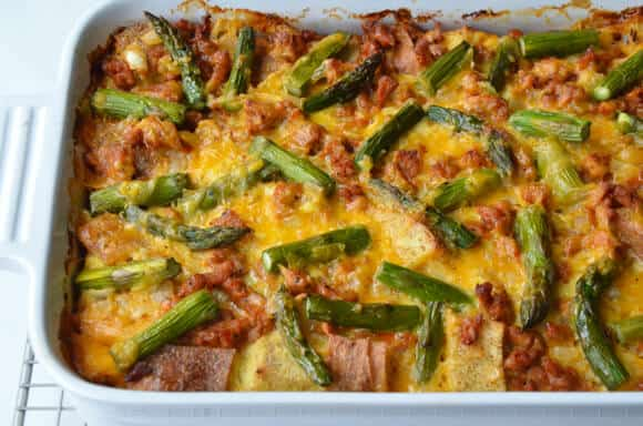 Overnight Egg and Breakfast Sausage Strata
