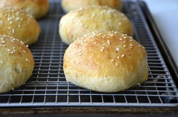 Just a Taste | Easy Homemade Parmesan Hamburger Buns
