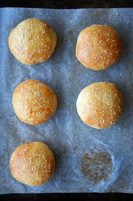 Easy Homemade Parmesan Hamburger Buns