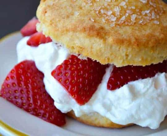 Easy Strawerry Shortcake with Whipped Cream