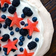 Patriotic Pavlova with Watermelon Stars