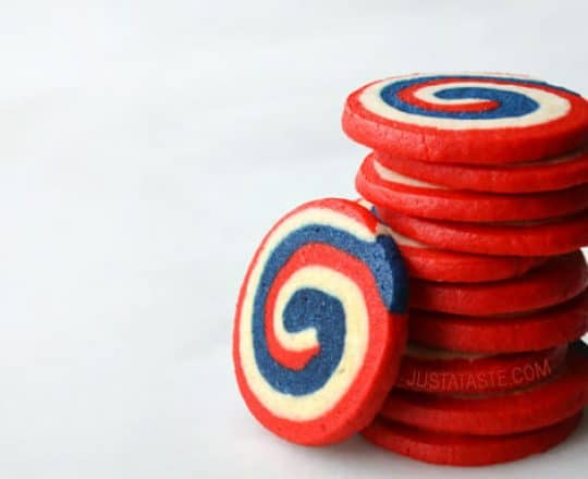 SWEET TREAT: Red, White and Blue Pinwheel Icebox Cookies