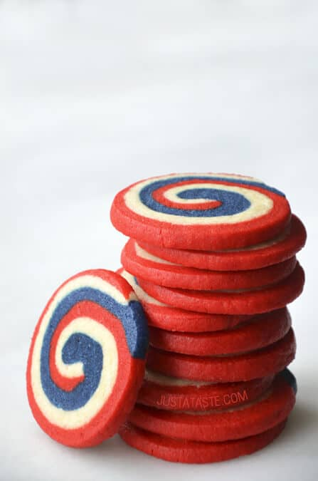 Red White And Blue Pinwheel Icebox Cookies Just A Taste