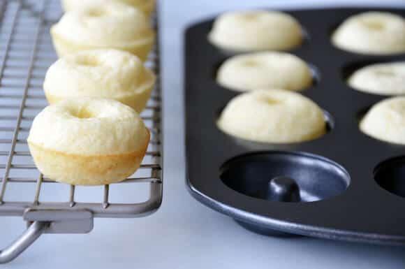 Baked Mini Buttermilk Doughnuts with Nutella Glaze