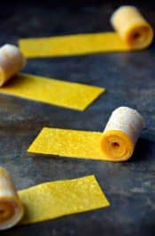 Healthy Homemade Mango Fruit Roll-Ups from justataste.com #recipe