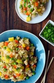 Pineapple Chicken Fried Rice | www.justataste.com