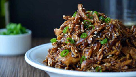 Slow Cooker Honey Honey Chicken from justataste.com #recipe
