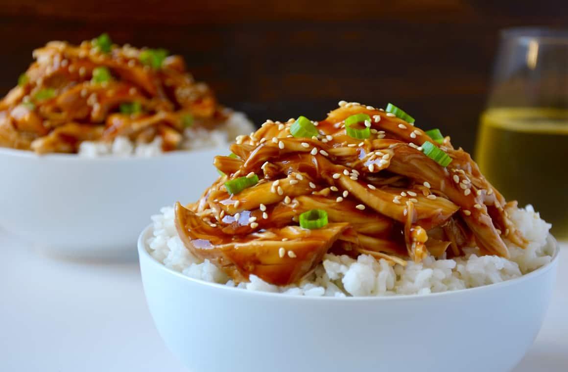 Slow Cooker Pulled Chicken Teriyaki Just A Taste