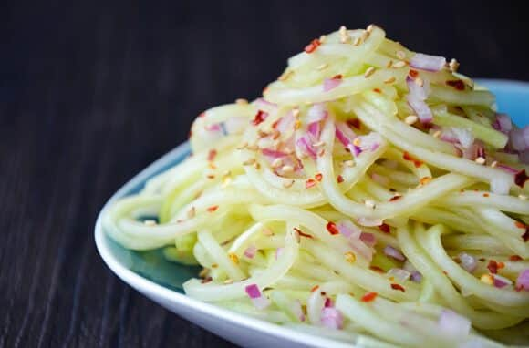 Chilled Sweet and Sour Cucumber Noodles