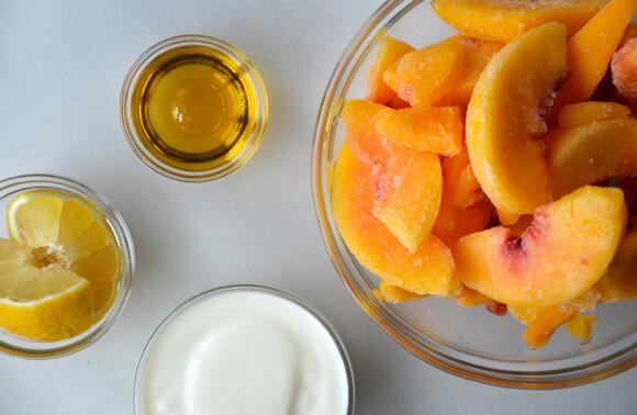 5 Minute Healthy Peach Frozen Yogurt Just A Taste