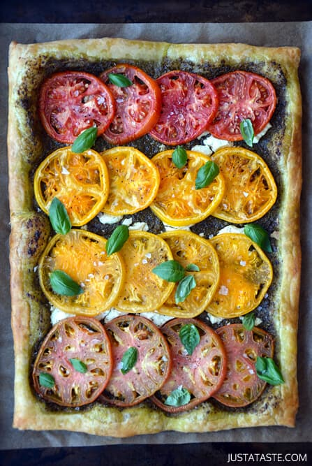 Heirloom Tomato and Goat Cheese Tart Recipe