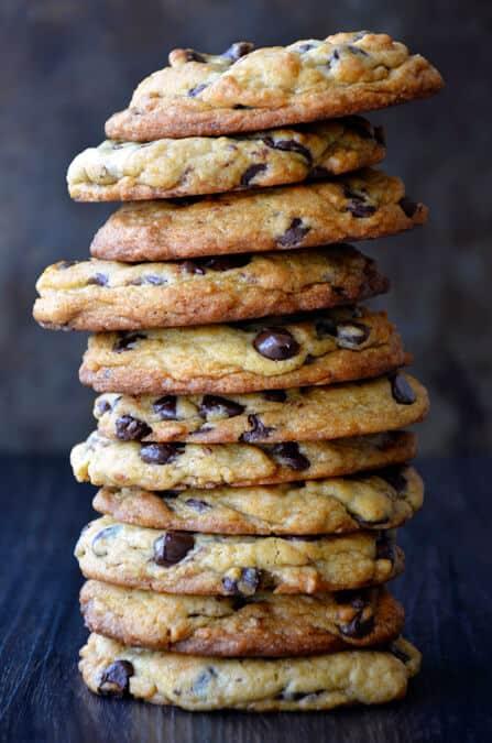 Secret Ingredient Chocolate Chip Cookies from justataste.com #recipe