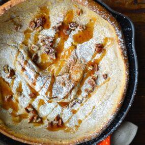 Pumpkin Spice Dutch Baby Pancake from justataste.com