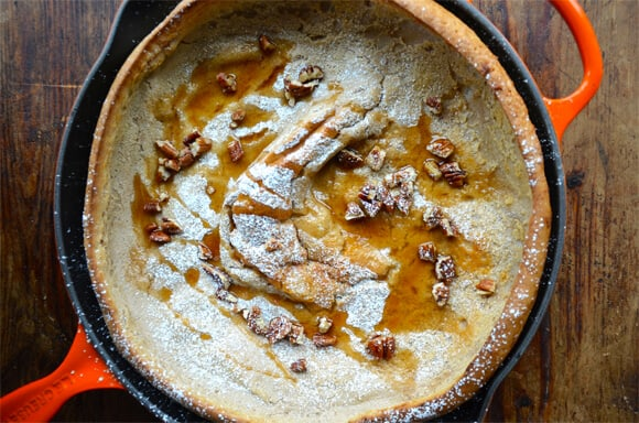 Pumpkin Spice Dutch Baby Pancake from justataste.com