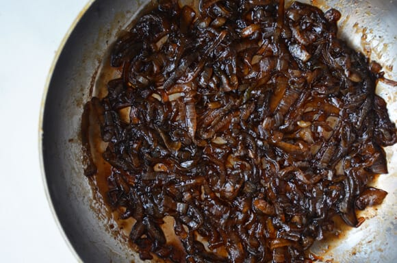 Grown-Up Grilled Cheese with Caramelized Balsamic Onions from justataste.com