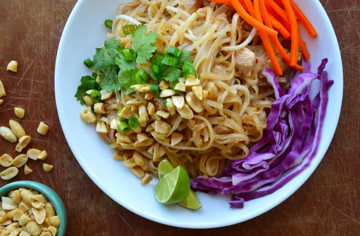 pad thai recipe Chicken pad thai is a popular restaurant dish, see how you can make chicken pad thai at home with this delicious chicken pad thai recipe chicken pad thai recipe chicken pad thai is one of the meals that we order every time we go to our favorite thai restaurant my husband and i love that it is.