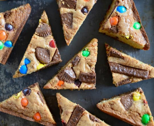 Leftover Halloween Candy Blondies