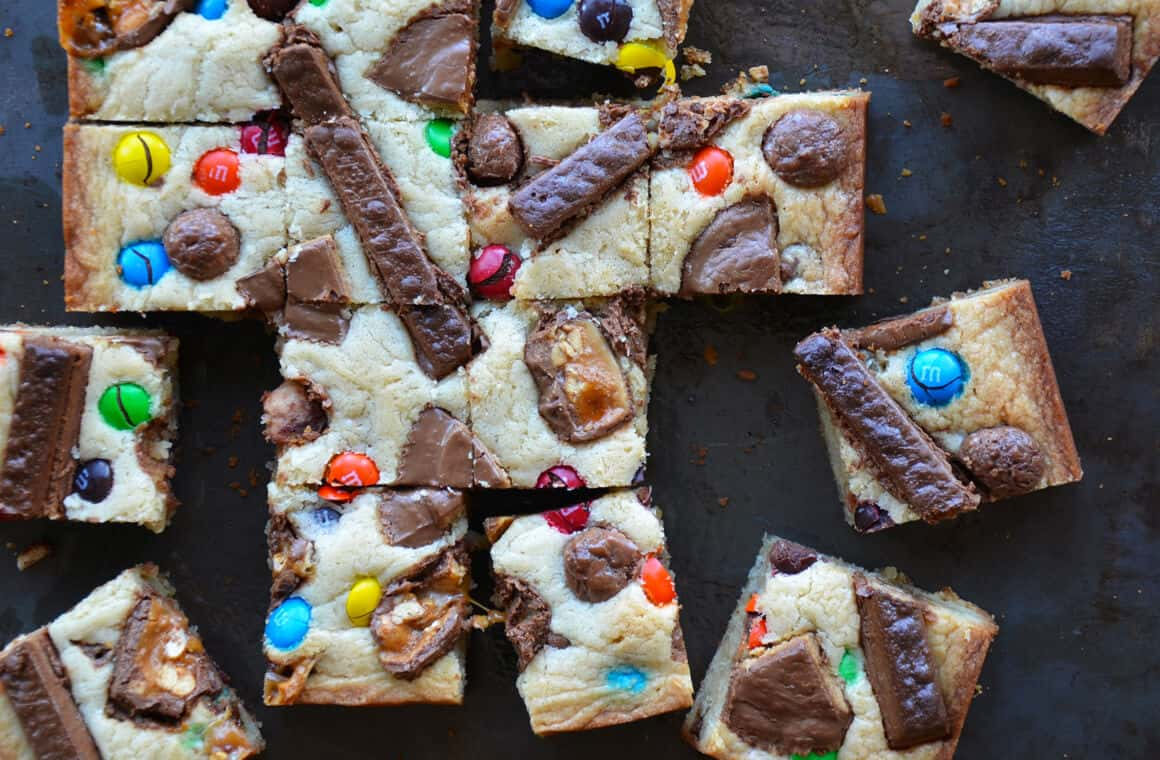 SWEET TREAT: Leftover Halloween Candy Blondies
