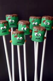 Frankenstein Marshmallow Pops Recipe