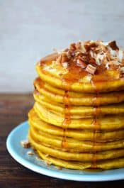 Pumpkin-Coconut Pancakes recipe