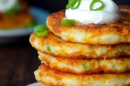 Cheesy Leftover Mashed Potato Pancakes