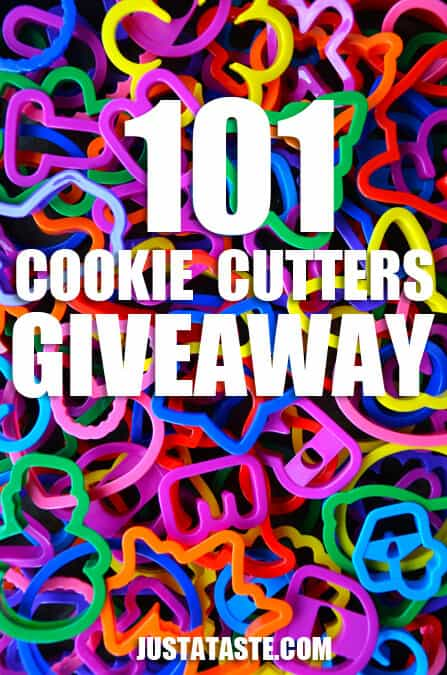 101 Cookie Cutter Set Giveaway on justataste.com #giveaway