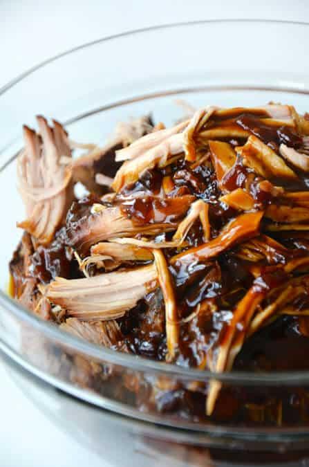 Slow Cooker Balsamic Honey Pulled Pork | Just a Taste