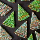Christmas Tree Shortbread Cookies from justataste.com #recipe