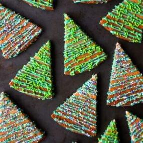 Christmas Tree Shortbread Cookies from justataste.com #recipe