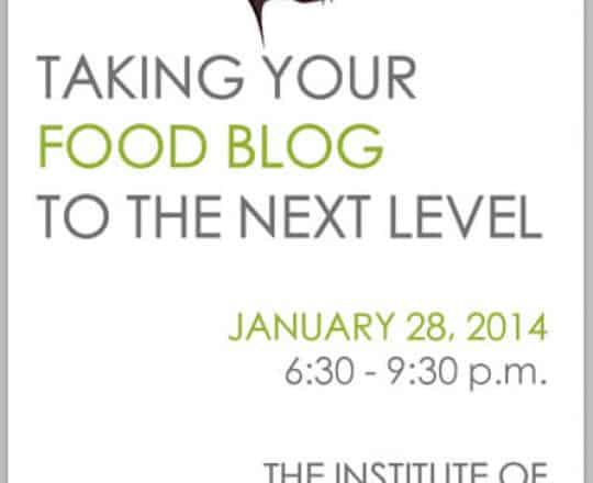 NYC Food Blogging Class