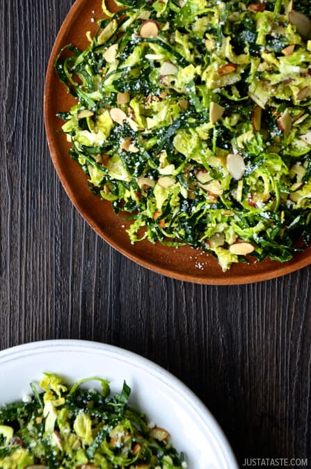 TUESDAY: Shredded Kale and Brussels Sprout Salad