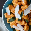 Sweet Potato Gnocchi with Balsamic Brown Butter from justataste.com #recipe