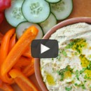 The Secret to the Best Homemade Hummus from justataste.com #recipe #video