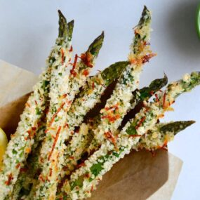Cheesy Baked Asparagus Fries #recipe