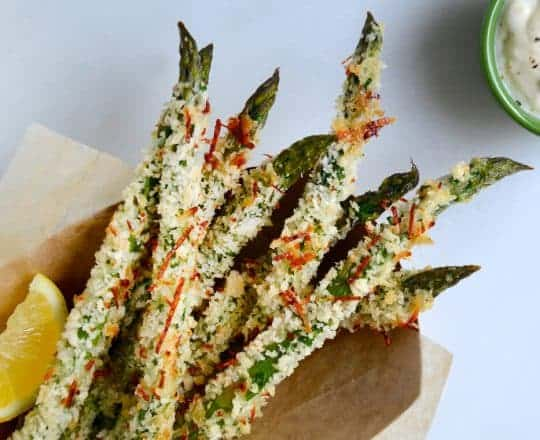 Cheesy Baked Asparagus Fries #recipe