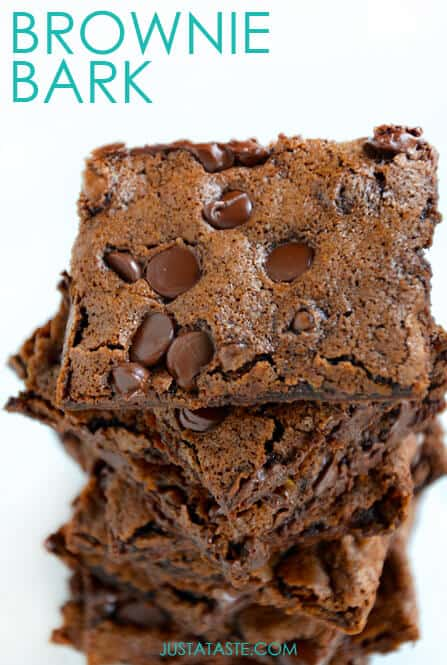 Chewy Chocolate Brownie Bark #recipe