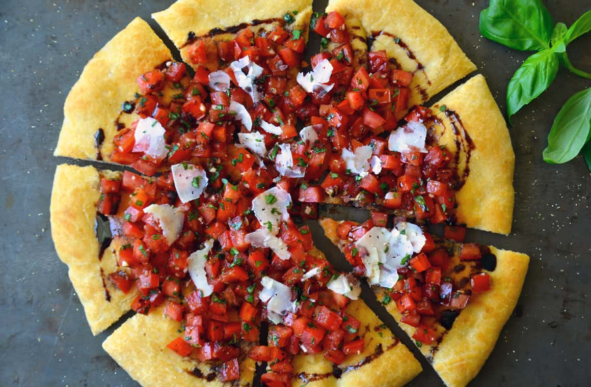 FRIDAY: Bruschetta Pizza with Balsamic Syrup