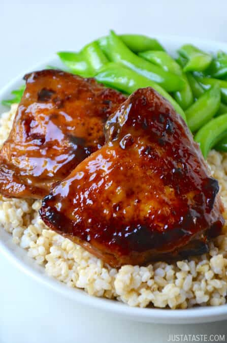Honey Balsamic Baked Chicken Thighs | Just a Taste