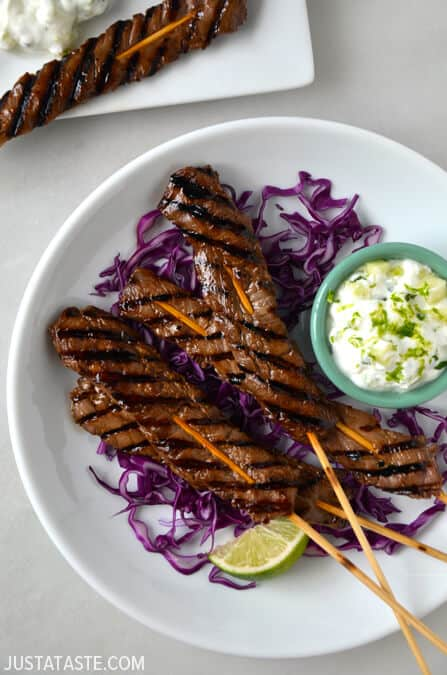 Five-Spice Beef Kabobs #recipe