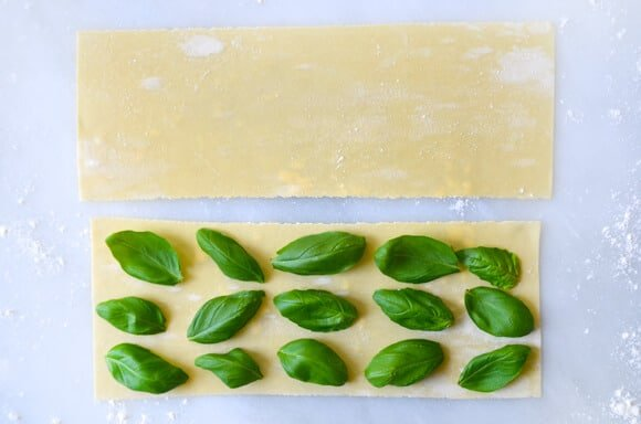Laminated Basil Pasta with Garlic Brown Butter Sauce #recipe