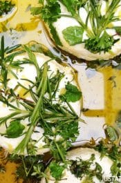 Marinated Goat Cheese with Fresh Herbs #recipe