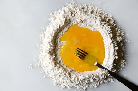 Laminated Basil Pasta with Garlic Brown Butter Sauce #recipe
