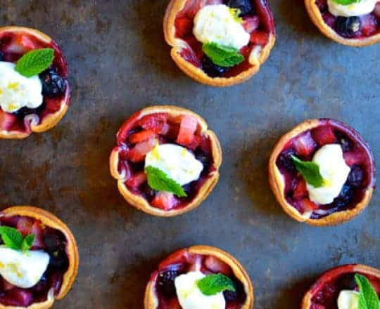 Mixed Berry Tartlets recipe