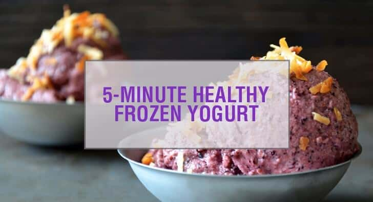 5-Minute Healthy Blueberry Frozen Yogurt Recipe