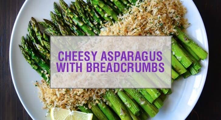 Roasted Asparagus with Cheesy Breadcrumbs Recipe