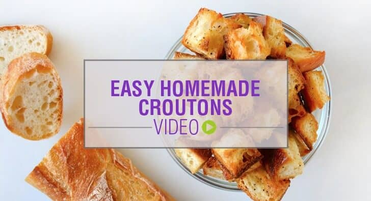 Video: Easy Homemade Croutons Recipe