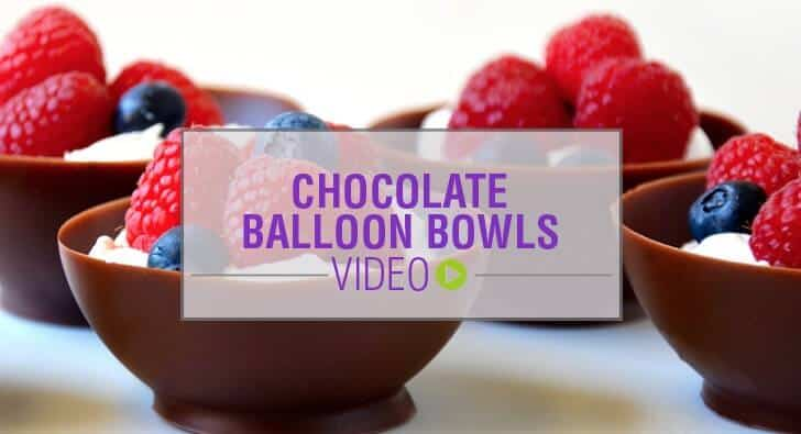 Video: Chocolate Balloon Bowls