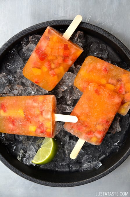 Peach Sangria Popsicles #recipe