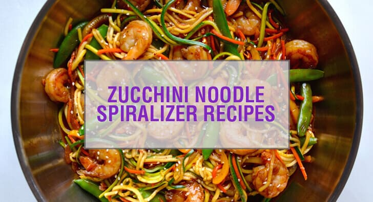 Zucchini Noodle Spiralizer Recipes